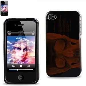 Hard Case Designed for Men IPhone 4 4S Skull Case Black W