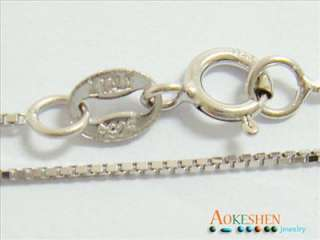 17.7 inch  45cm ITALY Sterling Silver BOX Chain Ladys Tiny Fine