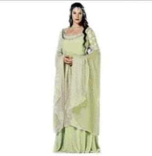 The Lord Of The Rings Arwen Light Green Dress Costume