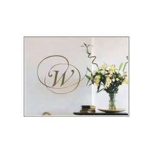 Swirl Initial Monogram Wall Decal