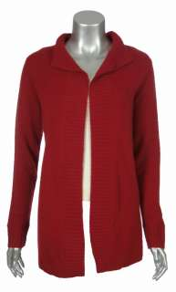 Sutton Studio Womens 100% Cashmere Long Sleeve Lounge Open Cardigan