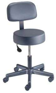 New BREWER Value + Pneumatic Exam Stool w/back #22500B