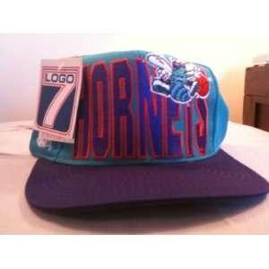 Charlotte Hornets Vintage Block Logo Snapback Hat