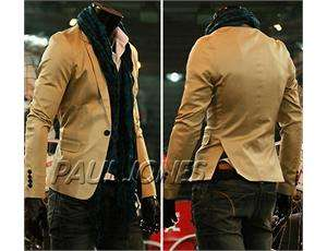 PJ New Mens casual One button Style slim fit Light Jacket Blazer Coat