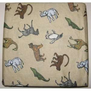 Jungle Safari Animals Full Sheet Set 100% Cotton Zoo Animal