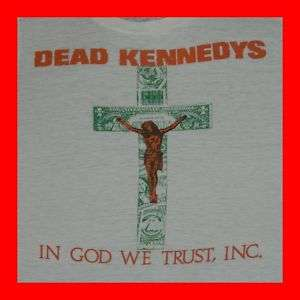 1981 DEAD KENNEDYS PAPER THIN VTG T SHIRT black flag