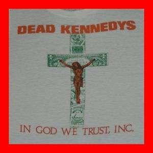 1981 DEAD KENNEDYS PAPER THIN VTG T SHIRT black flag