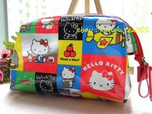 Classic Pattern Cosmetic Bag Makeup Case Clutch Purse  JAPAN