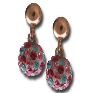 Dangling Multi Colored Crystal Ball Earrings Kaylah Designs Jewelry