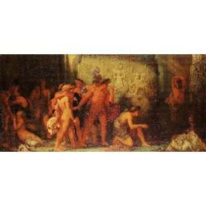 to the Minotaur in the Cretan Laby, by Moreau Gustave Home & Kitchen