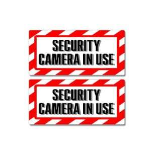 Warning Security Cameras In Use Sign  18X12