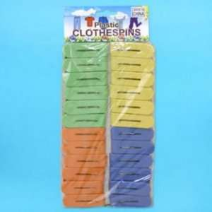 Clothes Pin 24 Piece Asstcolor Plastic Laundry Case Pack