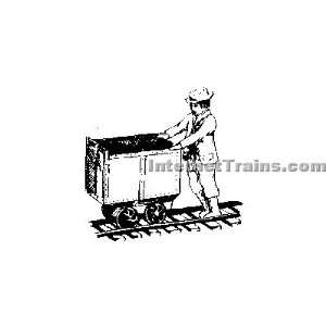 Grandt Line O Scale Cast Metal Figure Miner w/Mine Car