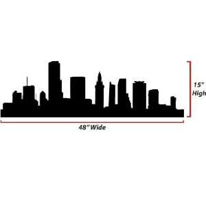 Miami Skyline Silhouette  Large  Vinyl Wall Decal