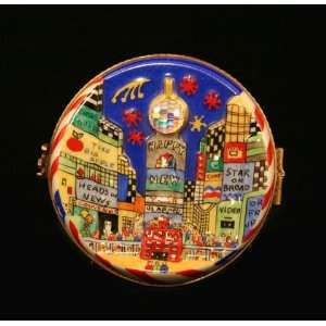 Happy New Year Ny Times Square French Limoges Box