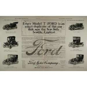 1909 Ad Ford Model T Roadster Landaulet Tourabout RARE