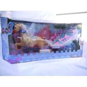 Barbie Princess Bride Horse and Carriage (2000) RARE Toys & Games