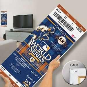 2010 World Series Mini Mega Ticket   San Francisco Giants