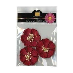 Paper Flowers 3/Pkg   Wild Rose 2 Crimson: Arts, Crafts & Sewing