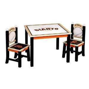 Guidecraft MLB San Francisco Giants Table and Chair Set