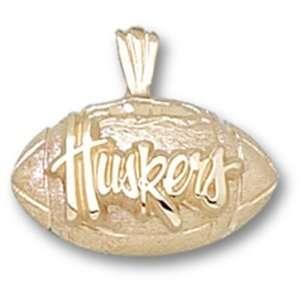 University of Nebraska Huskers Football Pendant (Gold