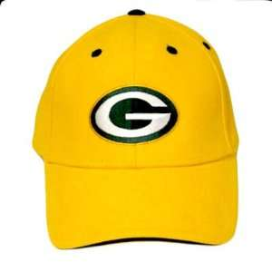 NFL GREEN BAY PACKERS YELLOW COTTON OSFA HAT CAP NEW