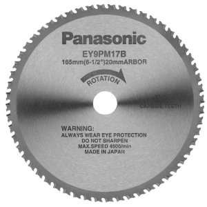Panasonic EY9PM17B 6 1/2 Inch 56 Teeth Thin Metal Cutting Blade