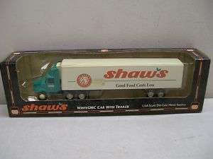 ERTL 1/64 SCALE SHAWS WHITE GMC TRACTOR TRAILER TRUCK