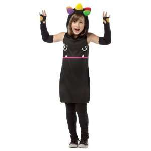 So Happy Mad Dog Hoodie Dress Child Costume / Black   Size Medium 7 10