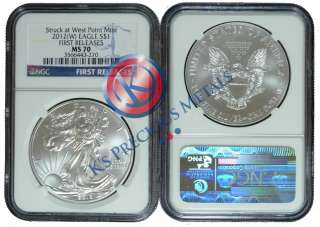 American Silver Eagle $1 NGC MS70 MS 70 First Releases (Blue Label FR
