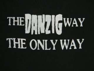 1988 THE DANZIG FORCE FAN CLUB VTG ORIGINAL T SHIRT UBER RARE XL