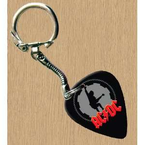 AC/DC Black Ice Premium Guitar Pick Keyring Musical