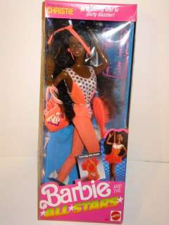 NIB BARBIE DOLL 1989 AND THE ALL STARS CHRISTIE RUNNING