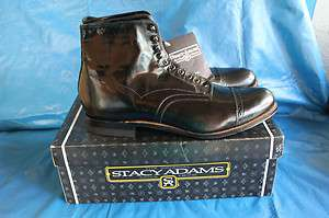 STACY ADAMS Mens Madison Black Dress Ankle Boot 00015 NEW