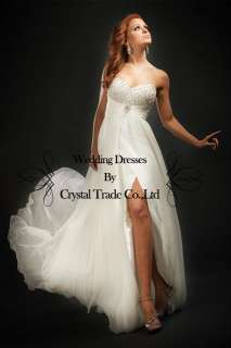 2012 New White/Ivory Prom Dress Wedding Bridal Bridesmaid Evening
