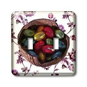 Sandy Mertens Easter   Chocolate Eggs in Coconut Shell and Flower Tile