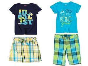 NEW NWT Girls GYMBOREE /CRAZY 8 Tee Shirt Top Plaid Skirt Shorts size