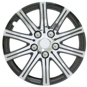 15SE BX Polished Silver with Black Accent 15 Wheel Cover Automotive