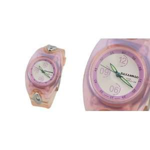 Como Pink Plastic Band Glare Case Round Dial Analogue Watch