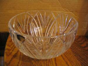 Polonia Lead Crystal ( Cut) Sunflower Serving Bowl