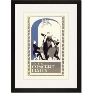 Black Framed/Matted Print 17x23, Concert Hall Trio