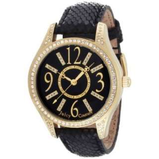 Juicy Couture Womens 1900656 Lively Gold Plated and Black Leather