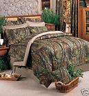 King 8 PC Realtree Hardwoods Camo Comforter Bed Set!