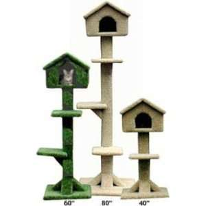 Sky House Cat Tree  Color BURGUNDY  Size 80 INCH