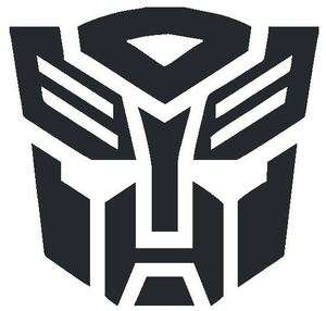 TRANSFORMER WINDOW LOGO CAR AUTO STICKER/DECAL CHOOSE SIZE/COLOR