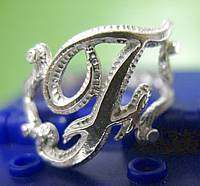 Real Sterling silver 925 letter Initial F ring jewelry