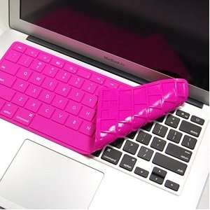 Cosmos ® Hot pink Solid Pure Silicone Keyboard cover skin for Macbook