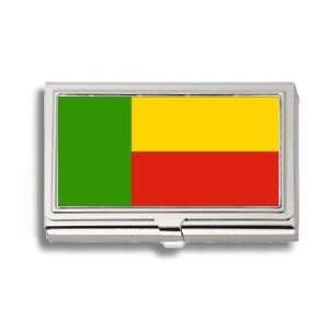 Benin Flag Business Card Holder Metal Case Office