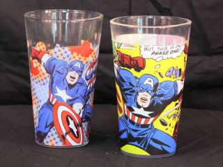 Marvel Comics Captain America 16 Oz. Drinking Glasses