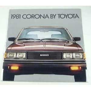 1981 81 Toyota CORONA BROCHURE Sedan Luxury Deluxe Everything Else